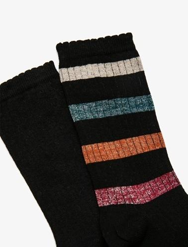 Koton 2'Li Kadın Çorap Siyah